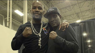Floyd Mayweather y Pernell Whitaker hace unos días.