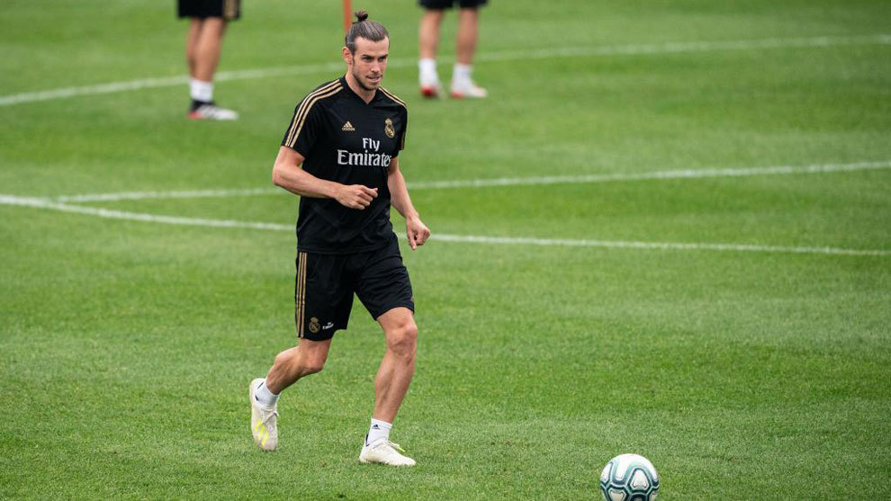 Gareth Bale during one of Real Madrid's training sessions in Montreal.