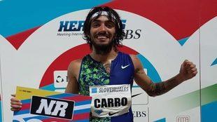 Fernando Carro, tras batir el récord de 3.000 obstáculos la pasada...