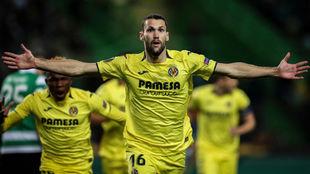 Pedraza, celebrando un gol