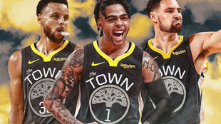Curry, Rusell y Thompson.