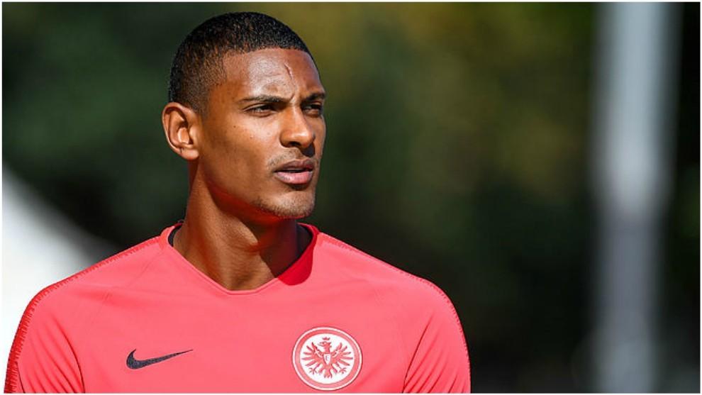 Haller, durante un entrenamiento con el Eintracht Frankfurt.
