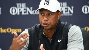Tiger Woods, en la conferencia de Prensa.