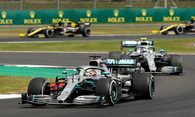 Los Mercedes en el GP de Gran Bretaña.