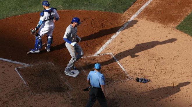 Partido de la MLB entre Los Angeles Dodgers y Chicago Cubs.