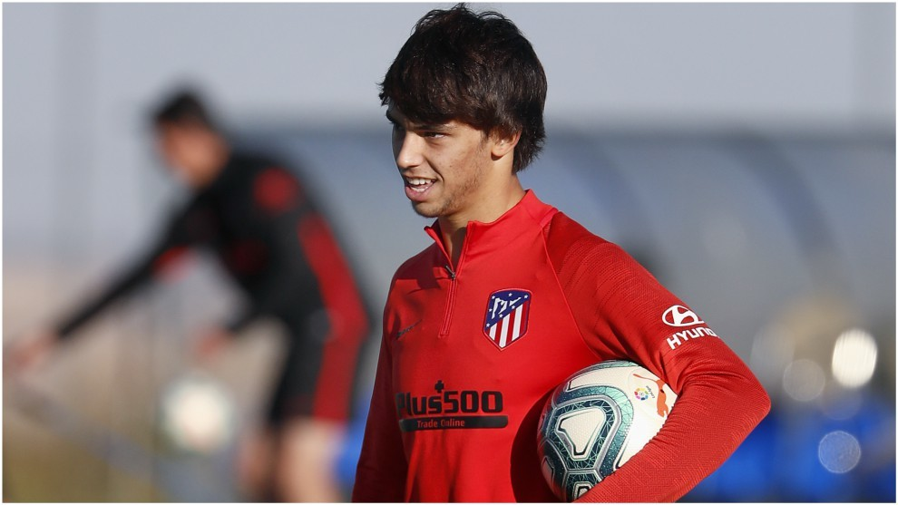 Joao Felix during a training session.