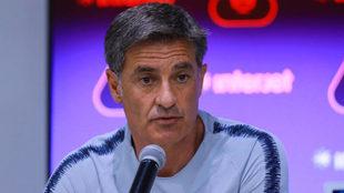 Míchel en conferencia de prensa