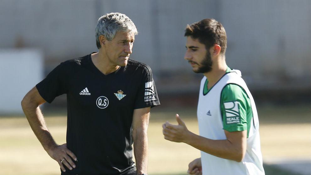 Redru, con Setién en su etapa en el Betis