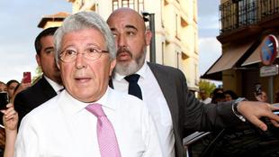 Cerezo a su llegada al asador José María