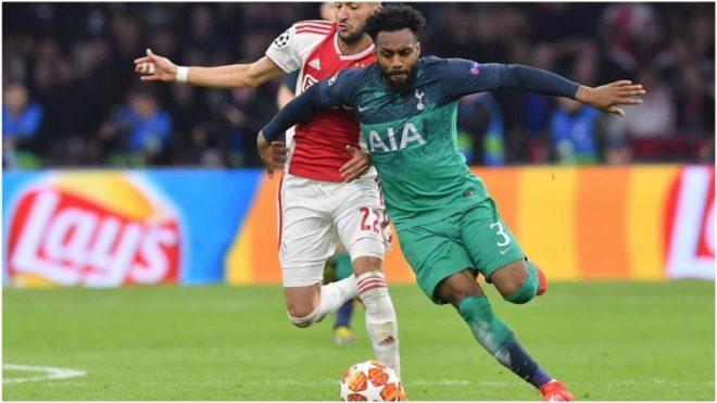 Rose, con el Tottenham ante el Ajax.