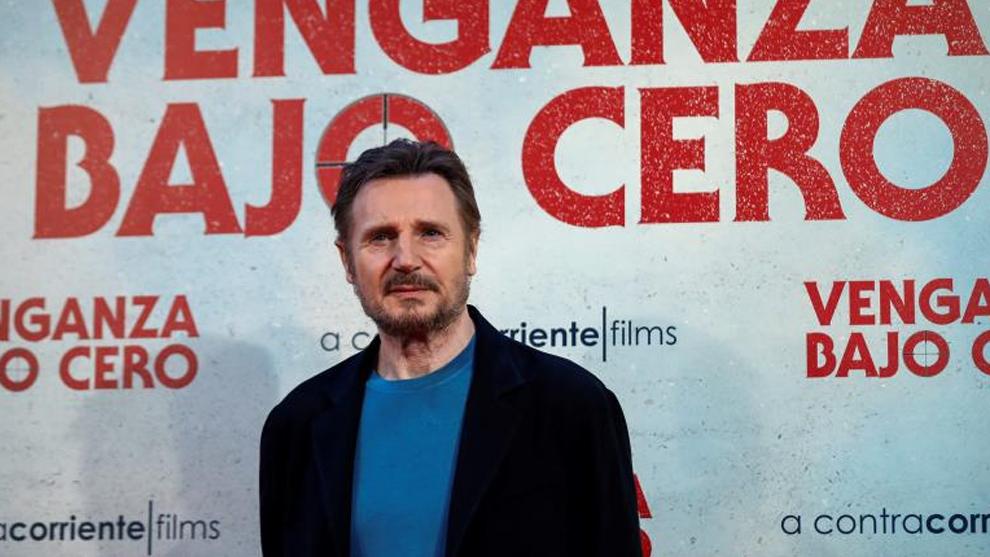 Liam Neeson durante la presentación de 'Venganza bajo cero'