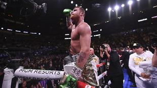 Saúl 'Canelo' Álvarez durante su pelea en mayo