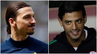 Zlatan Ibrahimovic y Carlos Vela.