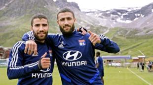 Fekir during pre-season training with Lyon.