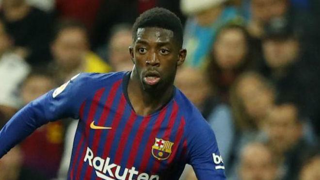 Ousmane Dembélé, durante un partido de la temporada pasada