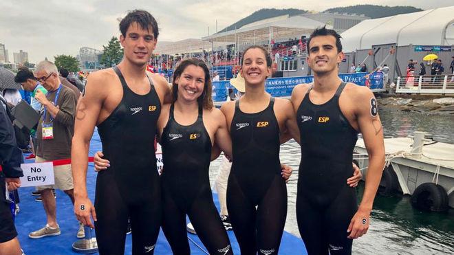 El equipo español de relevo 5K.