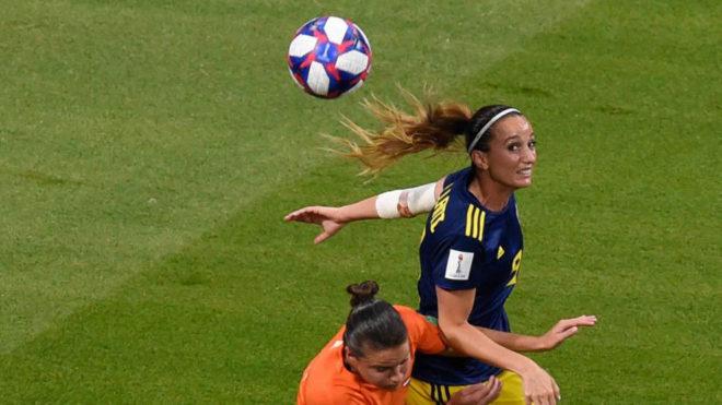 Kosovare Asllani, durante el último Mundial disputado en Francia.