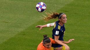 Kosovare Asllani, durante el último Mundial disputado en Francia