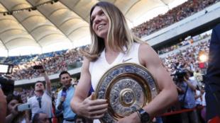 Simona Halep celebró la conquista en Bucarest