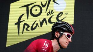 Geraint Thomas durante el Tour de Francia.