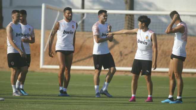 Maxi Gomez during his first session with Los Che.