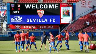 Entrenamiento del Sevilla en Dallas.
