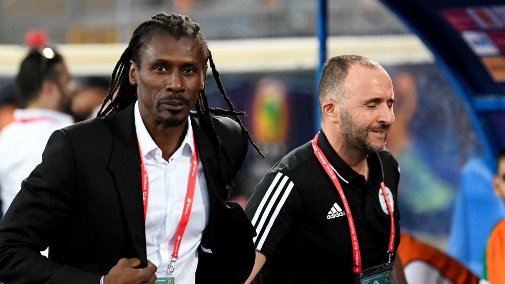 Djamel Belmadi (43) y Aliou Cissé (43).