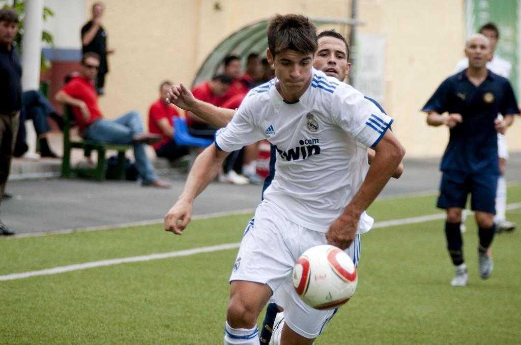 Morata en un partido con el Castilla