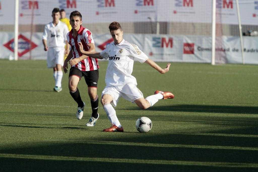 Hermoso en un partido con el Castilla
