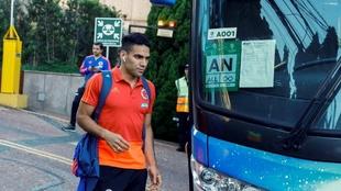 Radamel Falcao durante la convocatoria de su selección en la Copa...