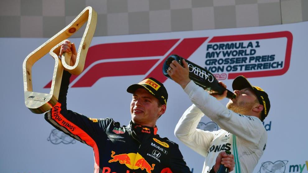 Verstappen y Bottas en Austria.
