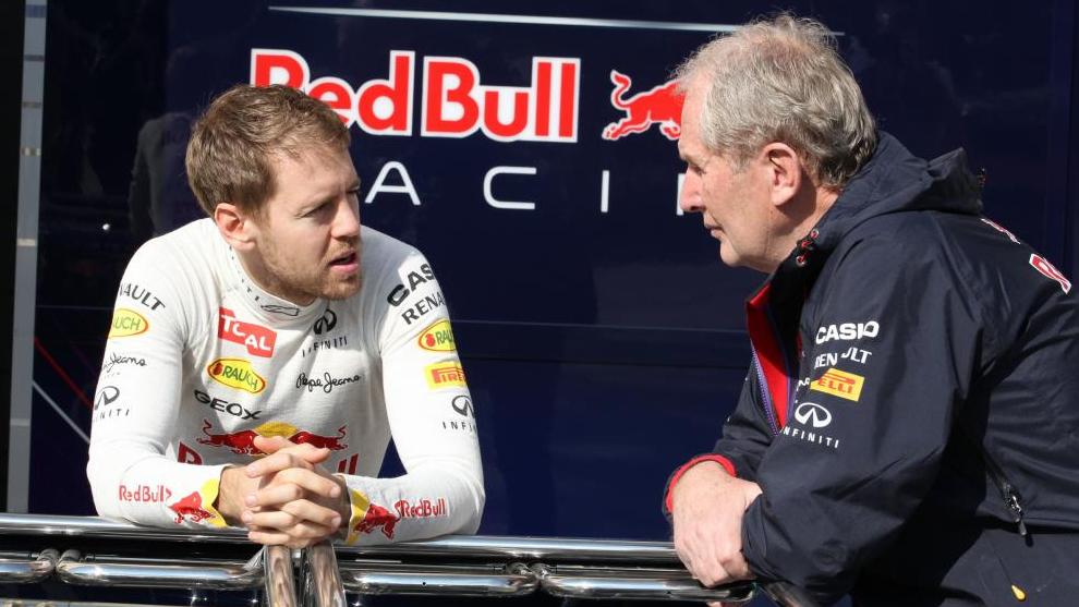 Vettel y Marko durante su etapa en Red Bull.