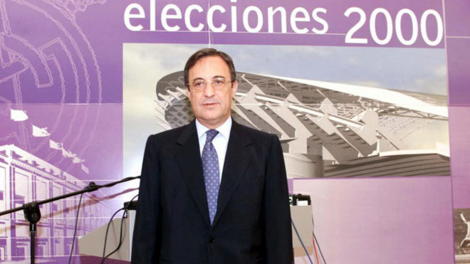 Florentino Perez during the 2000 elections