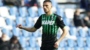 Merih Demiral (21), en un partido del Sassuolo.