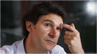 Aitor Karanka durante una entrevista para MARCA