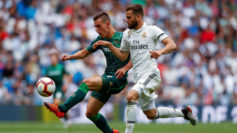 Lo Celso, frente al Real Madrid