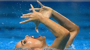 Ona Carbonell, durante la final del solo libre en el que ganó una de...