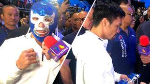 El filipino posó con la histórica máscara.