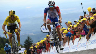 Julian Alaphilippe y Thibaut Pinot.