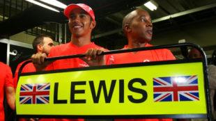 Lewis Hamilton y Anthony Hamilton.