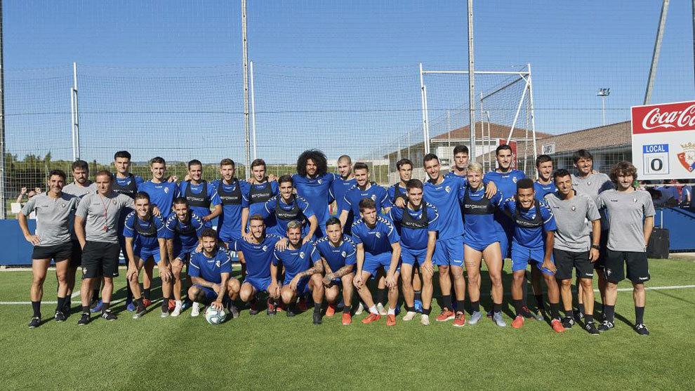 Estreno de temporada en el entrenamiento de Osasuna en las...