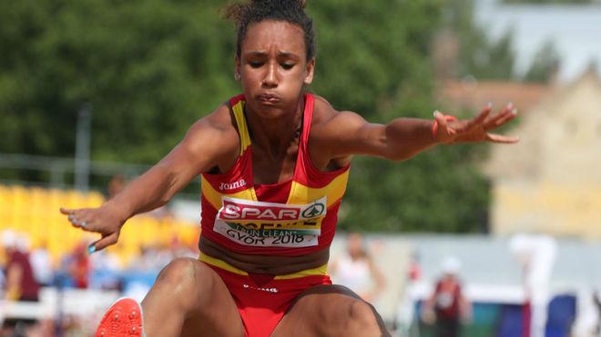 María Vicente, durante la competición.