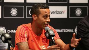 Thiago, durante la rueda de prensa en el NRG Stadium de Houston