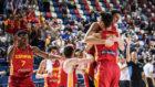 Los jugadores españoles celebran el pase a las semifinales
