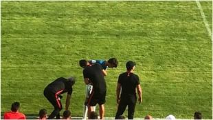 Joao Felix leaving the field.