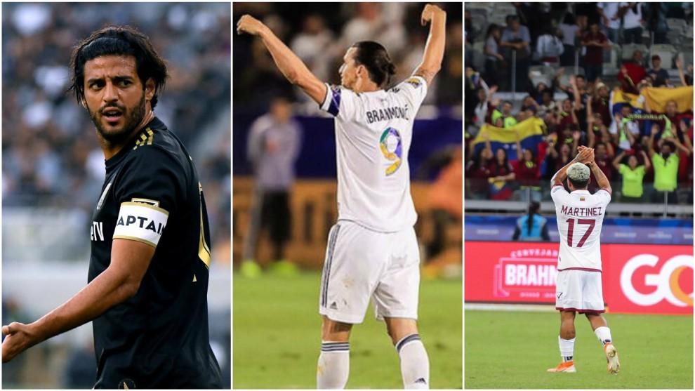 Carlos Vela, Zlatan Ibrahimovic y Josef Martínez son los máximos...