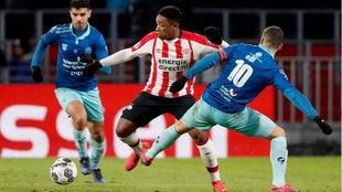 Bergwijn (21), en un partido del PSV la temporada pasada.