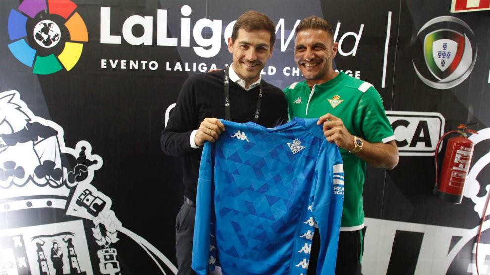 Iker Casillas, con Joaquín