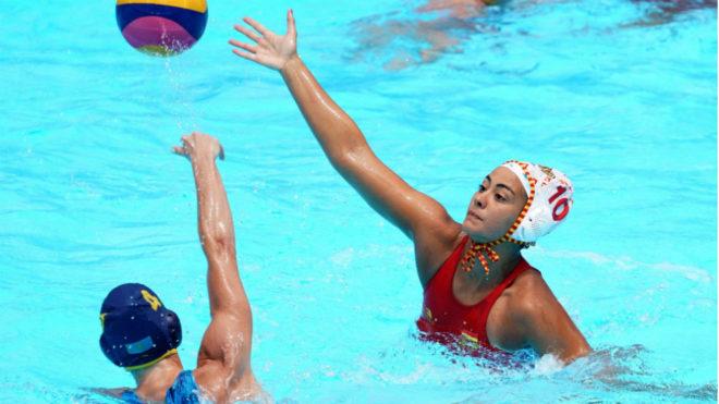 Paula Crespi, en un partido de la fase de grupos.