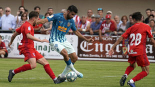 Diego Costa durante el partido ante el Numancia en El Burgo de Osma